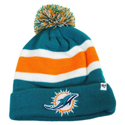 knitted beanie hats 47 brand miami dolphins nfl breakaway knit beanie hat nfl