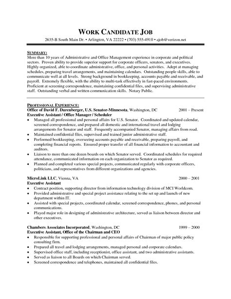 Executive Administrative Assistant Resume Sle 1 Sle Resume Template Senior Exe Administrative Assistant Contract Template