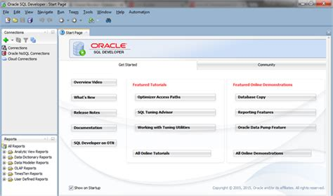 Oracle Sql Developer connect sql developer