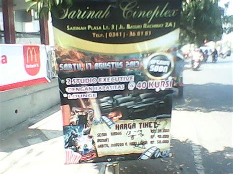 cineplex sarinah sarinah cineplex malang bioskop independent premierre