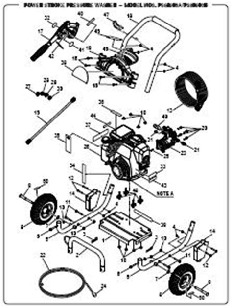 powerstroke psa power washer replacement parts