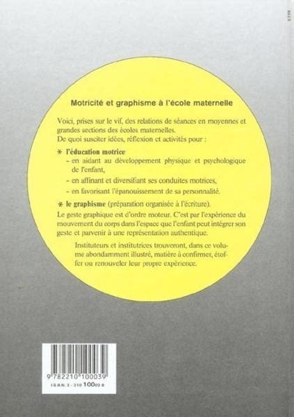 Livre Motricite Et Graphisme A L Ecole Maternelle