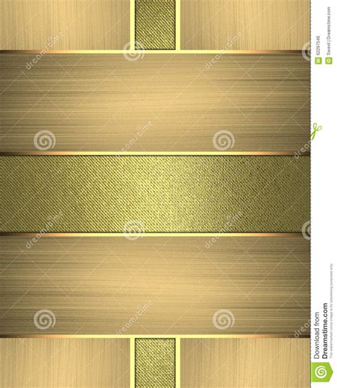 Gold Nameplate Element For Design Template For Design Copy Space For Ad Brochure Or Nameplate Design Templates