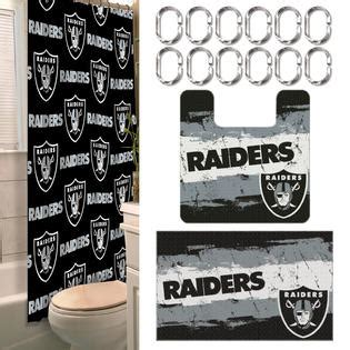 raiders bathroom set nfl oakland raiders bathroom set