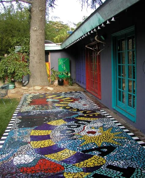 Outside Doormat Once Upon A Time Broken Tile Mosaic Walkway
