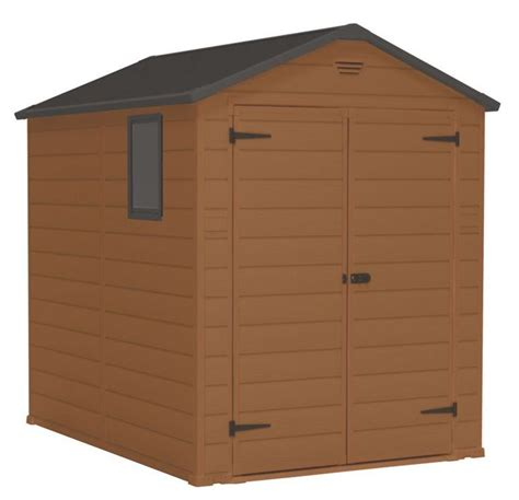 Blooma Plastic Shed by Blooma Brown Plastic Door Shed