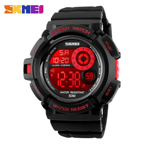 Skmei Watches Top Brand Luxury Gold Waterproo Limited 1 2017 skmei g style sport watches fashion casual led black