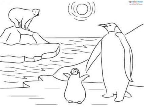 Penguin Habitat Coloring Page   emperor penguin coloring page for kids coloring pages