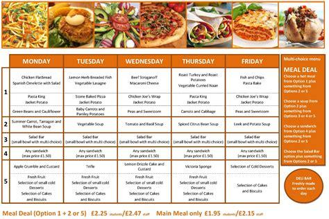 weekly menu ashcroft technology academy weekly menu