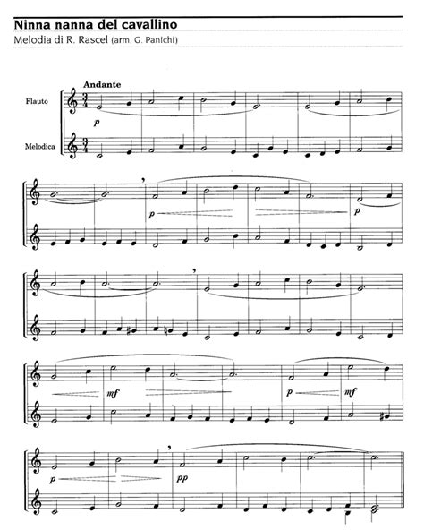 Ninna nanna del cavallino Renato Rascel Sheet music - Lyrics | Easy