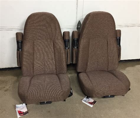 freightliner seats replacement m2 freightliner semi truck brown cloth sears 70 series air