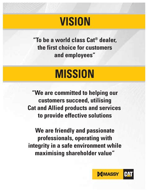 what is a vision and a mission our vision and mission statement massy cat