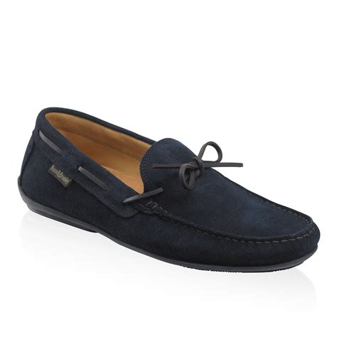and bromley shoes test drive lace trim driver in blue suede bromley