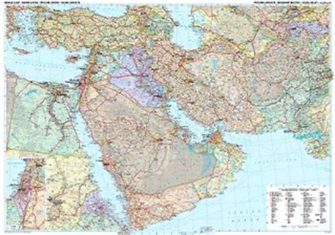 middle east road map mapworks the melbourne map shop wall maps of the middle east