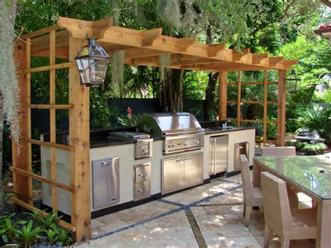 Backyard Kitchen Design Ideas Outdoor Kitchen Ideas Afreakatheart