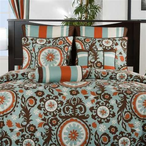 teal and orange comforter chocolate orange teal bedding decorating pinterest