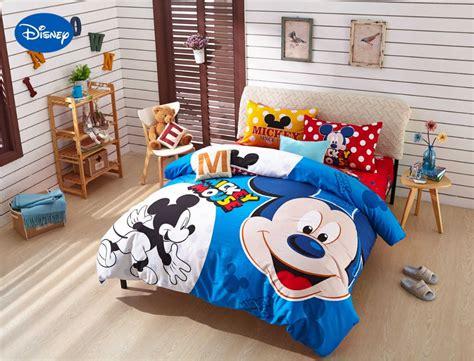disney print bedding set cotton blue polka dot