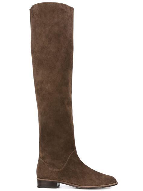 stuart weitzman shoes stuart weitzman 5050 boots in brown lyst