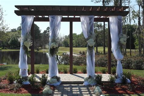 How To Decorate A Pergola For A Wedding by Deercreek Country Club Jacksonville Fl Wedding Venue