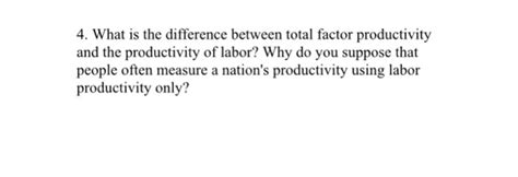 productivity the difference books what is the difference between total factor produc