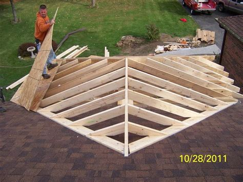 roof framing front porch addition lauras room house