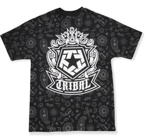 tribal pattern black and white shirt tribal gear iconic paisly all over t shirt black