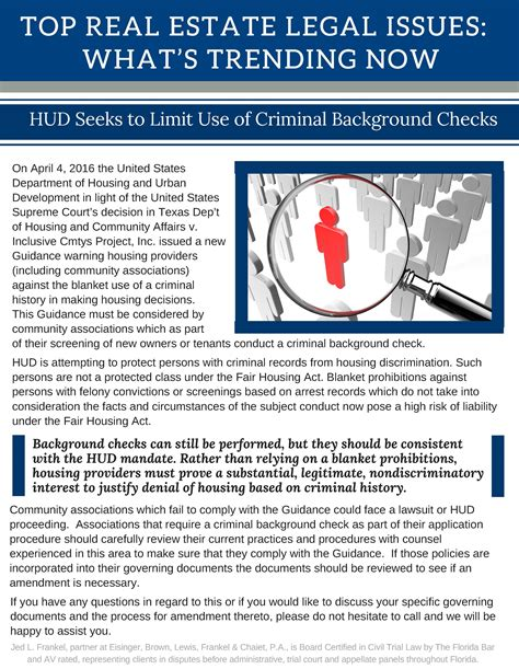 Whats On A Criminal Record Check Whats Trending Now Hud Seeks To Limit Use Of Criminal Background Checks