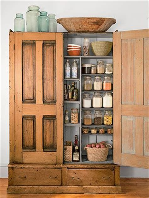 extra kitchen storage inside a charming loft filled with farmhouse style