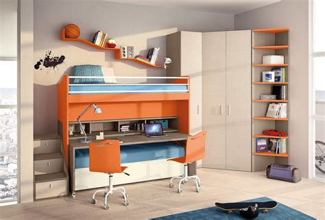 great loft bed with desk underneath concept for kids