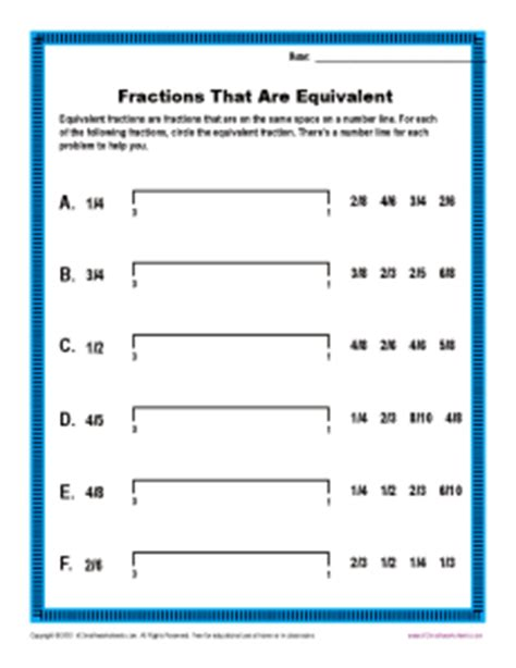k 12 math worksheets fractions that are equivalent fractions worksheets