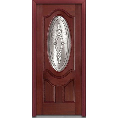 Oval Glass Door Mmi Door 36 In X 80 In Brentwood Right 3 4 Oval Lite 2 Panel Deluxe Classic Stained