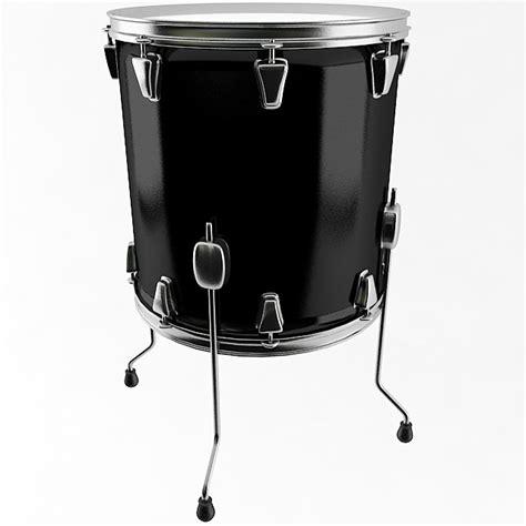 floor tom drum 3d model max obj 3ds wrl wrz