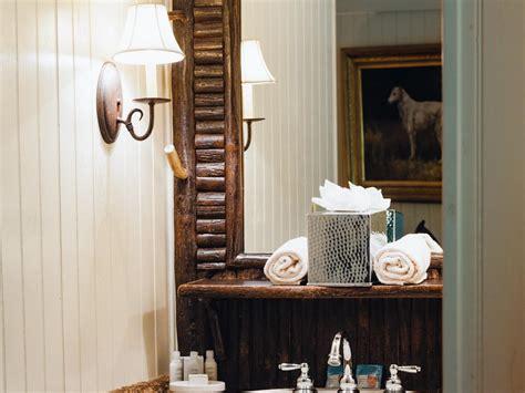 rustic bathroom lighting hgtv