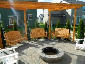 Swings Around Firepit Porch Swings Pit Circle Porch Swings Patio Swings Outdoor Swings