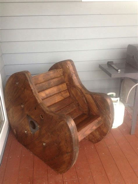 Cable Reel Rocking Chair by Best 25 Wooden Cable Spools Ideas On Diy