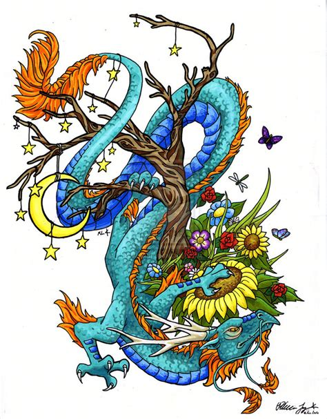coloured dragon tattoo designs images designs