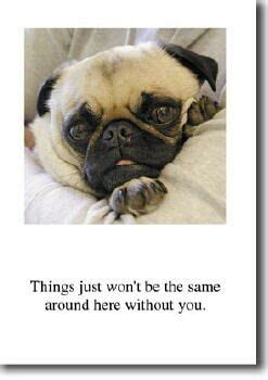 miss you pug the inky paw pug gifts pug cards pug greeting cards pug pug stationery pug greeting