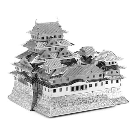 himeji castle floor plan mini diy 3d nanometal model 3d himeji jo castle puzzle