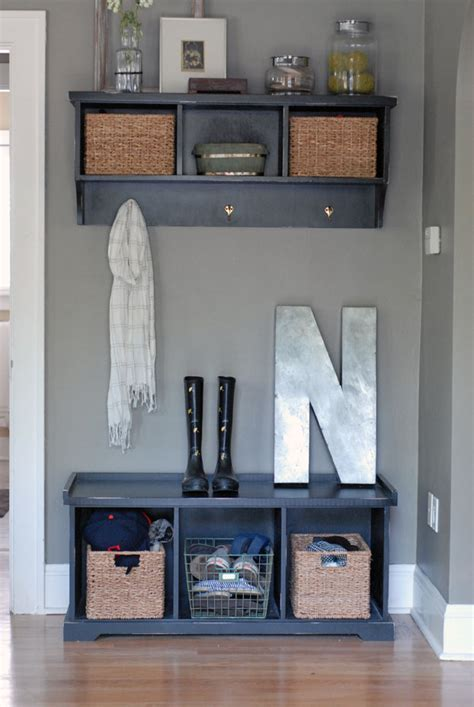 Small Entryway Stool Mudroom Decorating Ideas Studio Design Gallery