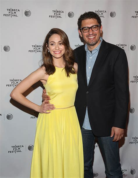 emmy rossum is married to emmy rossum engaged to sam esmail after dating two years