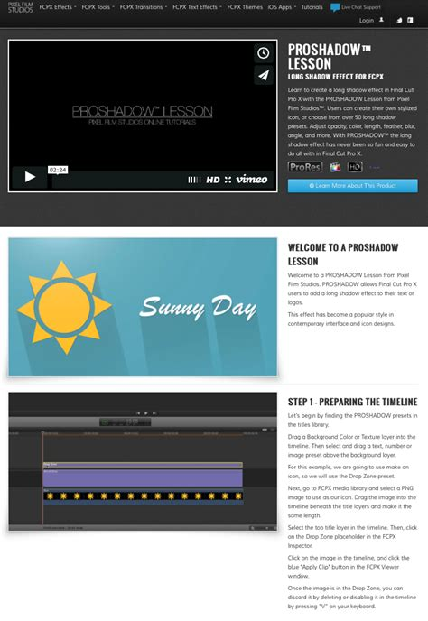 final cut pro lessons today a new proshadow lesson was announced from pixel film