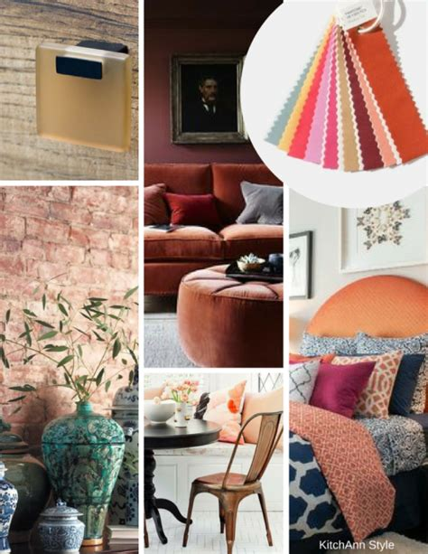 pantone view home interiors 2018 color palettes earthy