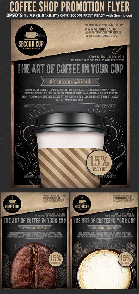 cafe flyer template flyer template coffee shop and flyers on