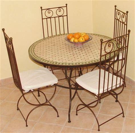chaises en fer forg 233 tables en zellij et mosaique destockage grossiste