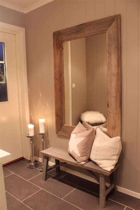hallway bench with mirror rustic mirror home is where the heart is pinterest