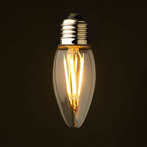 candele led 3 watt dimmable filament led e27 candle bulb