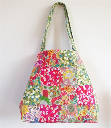 Patchwork Bag Pattern - liberty patchwork katherine bag pattern instant