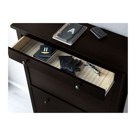 ikea boot storage hemnes shoe cabinet with 2 compartments black brown black