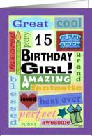 birthday cards 15 year olds 15th birthday cards from greeting card universe