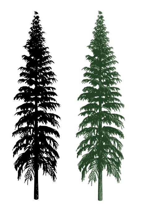 sillhouette and realistic tree clip arts free clip art